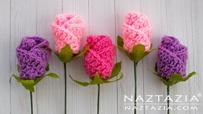 How to Crochet Simple Origami Rose - Naztazia