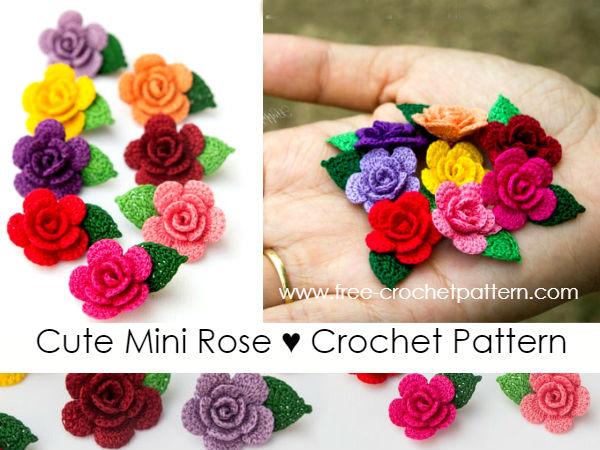 Cute Mini Rose / Crochet Pattern - Free Crochet Patter