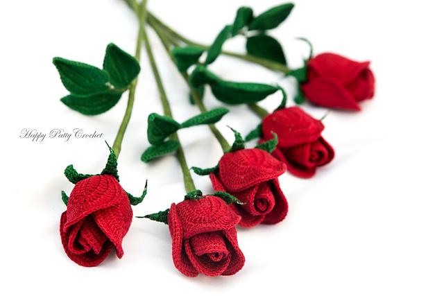 Ravelry: Beginner's Cut Rose Flower pattern by Happy Patty Croch