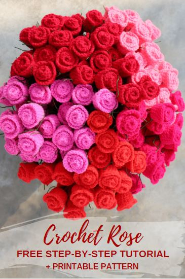 How to Make a Crochet Rose + Free Downloadable Pattern - Create .