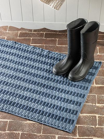 Crochet Rug Patterns - Woven Stripes Denim Rug Crochet Patte