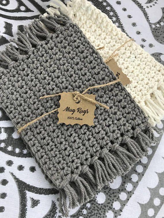 Crochet Mug Rugs / Coasters / Drink Coasters / Home Decor .