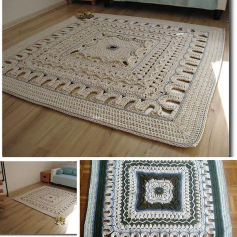Giant Area Rugs Free Crochet Patterns | Crochet rug patterns .