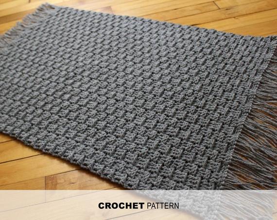 Easy crochet rug pattern Textured crochet floor mat pattern | Et