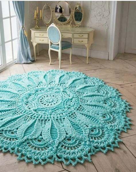 These beautiful Carpet Crochet Doily Rug Pattern Ideas!! | Crochet .