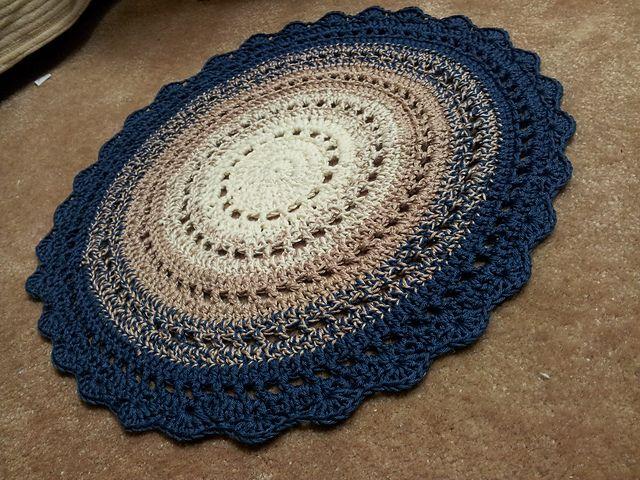 Mandala Rug pattern by Marlene Heins Botha | Crochet rug patterns .