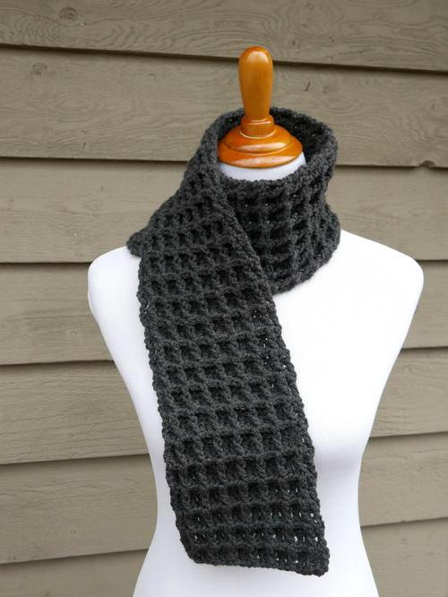 Waffle Stitch Crochet Charity Scarf | AllFreeCrochet.c