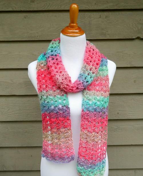 Island Lace Crochet Scarf | AllFreeCrochet.c