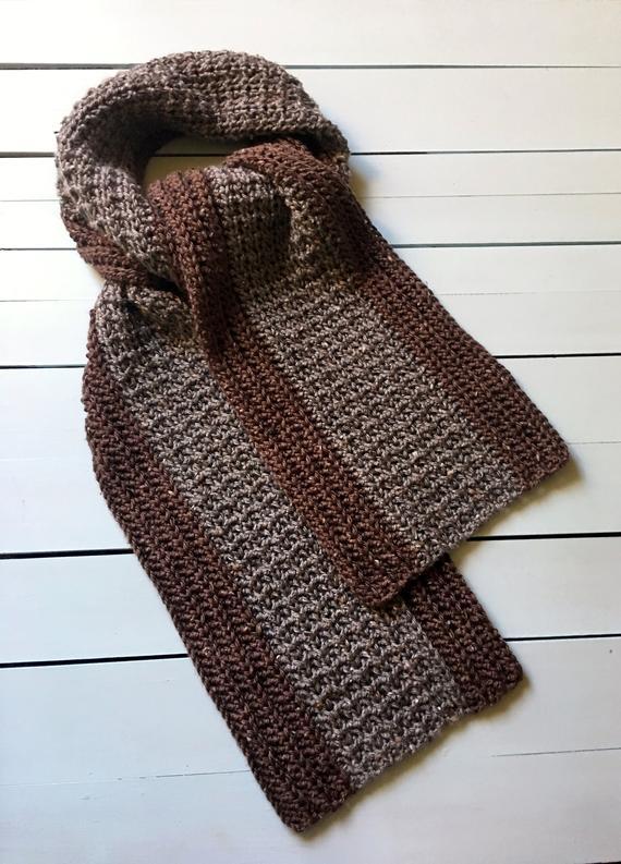 Mans Crochet Scarf Pattern Crochet Scarf Patterns for Men | Et