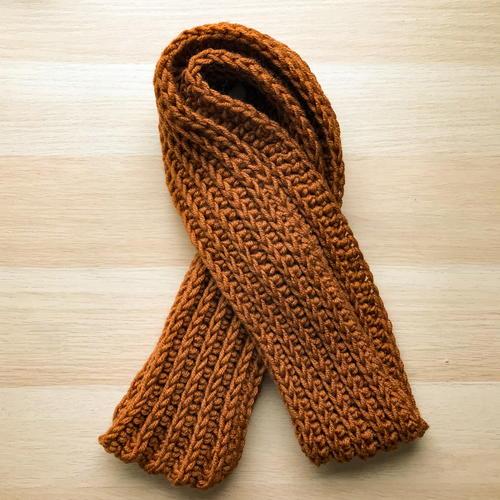 Entirely Easy Men's Crochet Scarf | FaveCrafts.c