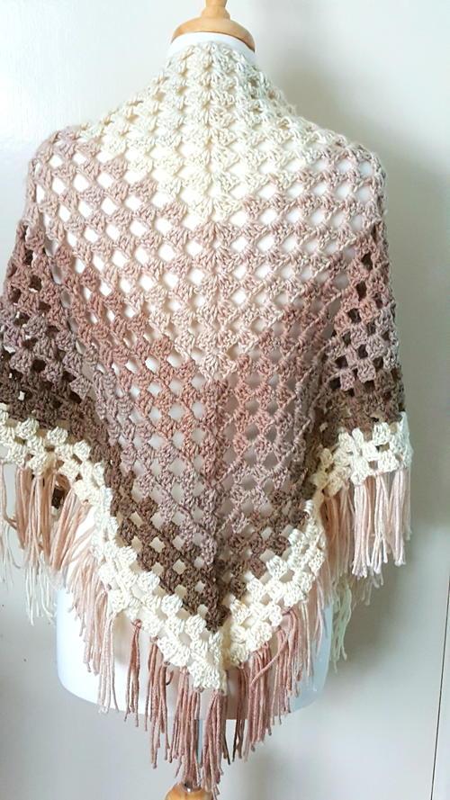 Crochet Ombre Shawl | AllFreeCrochet.c