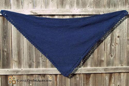 A Simple Crochet Shawl   AllFreeCrochet.c