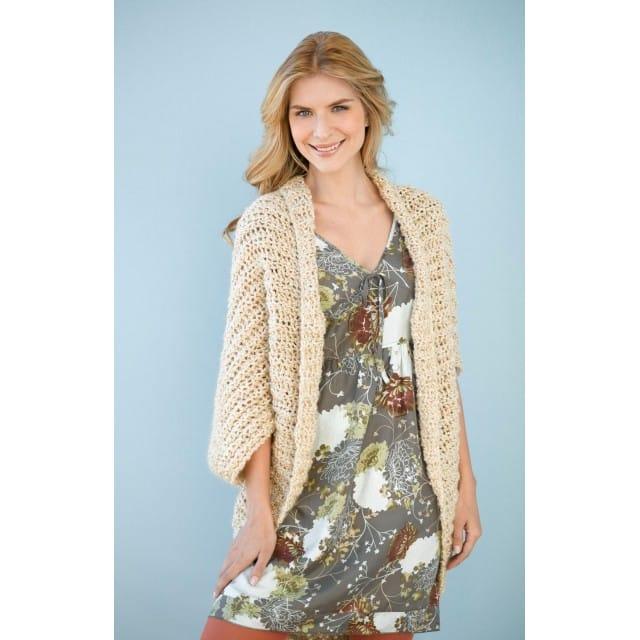 Simple Crochet Shrug - Lion Brand Ya