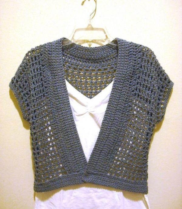 Free Crochet Shrug Patterns | The Handmade Way: The Short Sleeved .