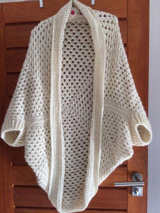 Crochet Cocoon Shrug Pattern Ideas | Crochet shrug pattern .
