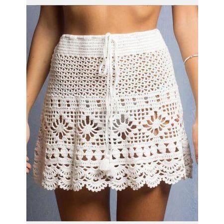 Summer crochet beach mini skirt | Crochet cloth