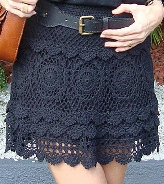 Crochet skirt PATTERN, sexy beach crochet skirt pattern, skirt .