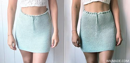 Reversible Skirt pattern by Wilma Westenberg - Ravel