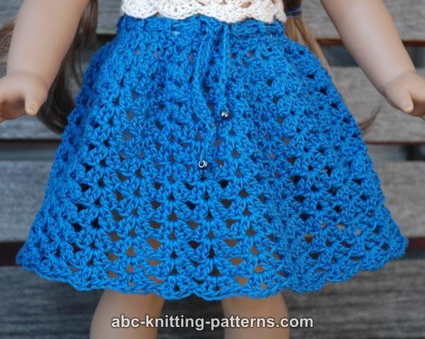 ABC Knitting Patterns - American Girl Doll Seashell Summer Ski