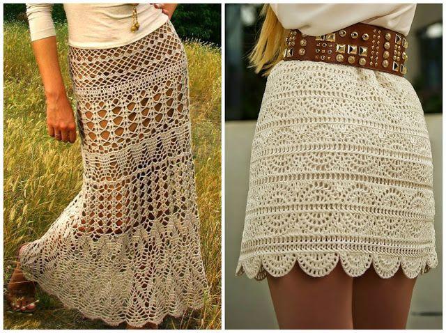 10 Amazing Crochet Skirts - free patterns and charts | Crochet .