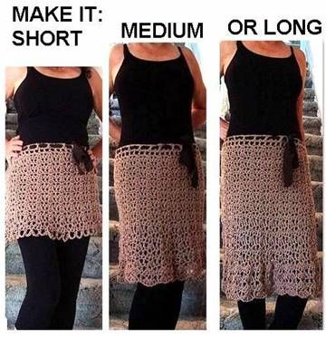 HOW TO CROCHET A SKIRT, any size, any length | Crochet skirts .