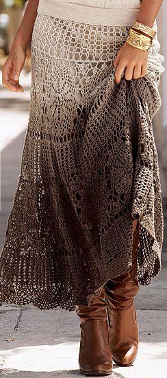 Maxi crochet skirt PATTERN (sizes Xs-3XL) crochet TUTORIAL in .