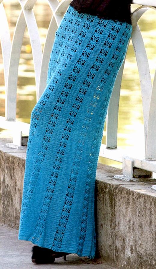 Crochet skirt PATTERN, maxi crochet skirt pattern, beach crochet .