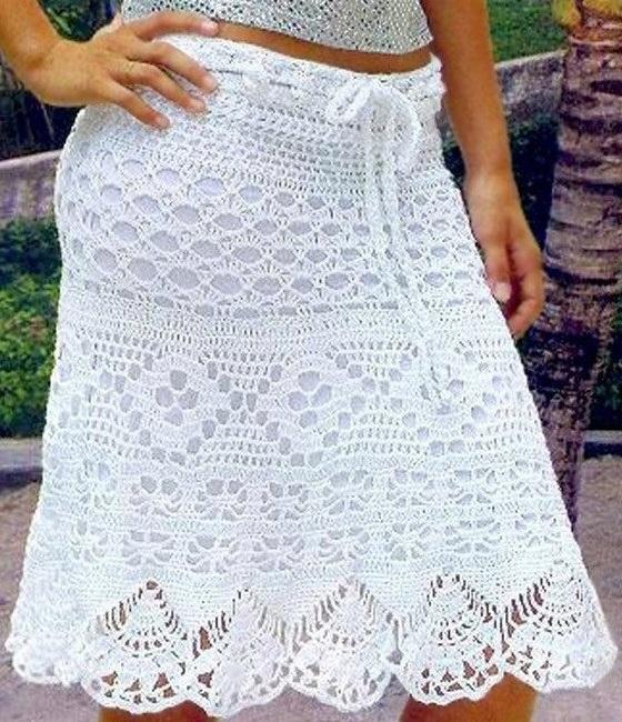 Crochet skirt PATTERN, sexy crochet skirt, beach crochet skirt .