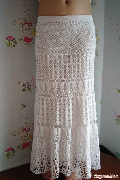 Free Crochet Pattern for Stunning Maxi Skirt – Summer Maxi Skirt .