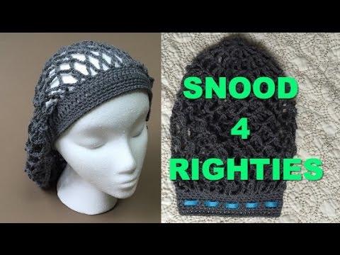 Super Easy #Crocheted #Vintage #Snood #VideoTutorial (4 Righties .
