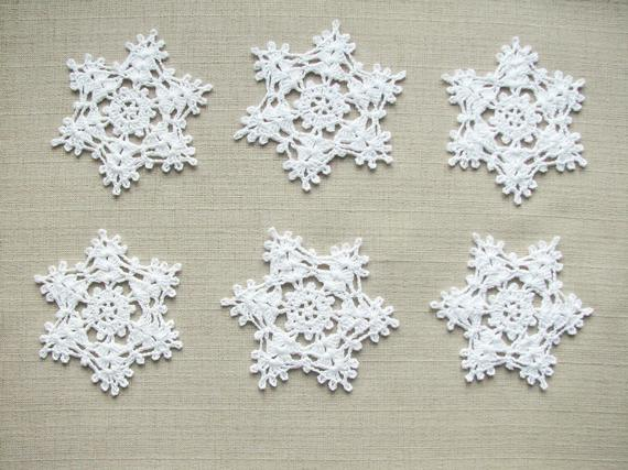 Christmas ornaments Crochet snowflakes Christmas decorations   Et