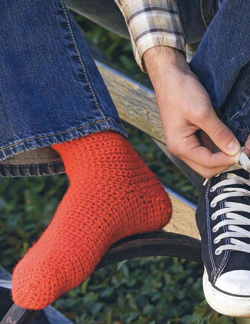 Basic Crocheted Socks | AllFreeCrochet.c