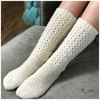 Endless Lace Crochet Socks pattern by Sentry Box Designs - Ravel