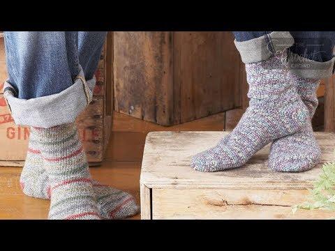 Crochet Socks for Beginners: Toe Up - YouTu