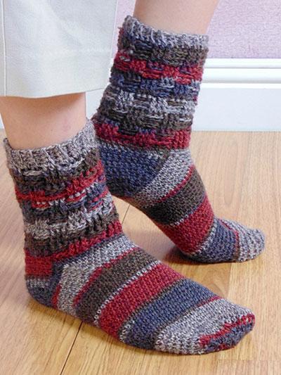 Crochet Socks Patterns - Basketweave Socks Crochet Patte