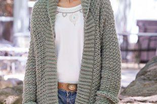 Weekend Casual Hooded Sweater Crochet Patte