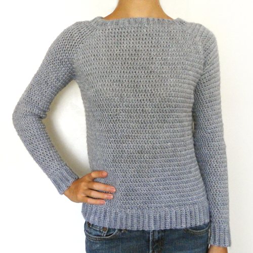 THE perfect sweater! No sewing Crocheted in one piece! | Ganchillo .