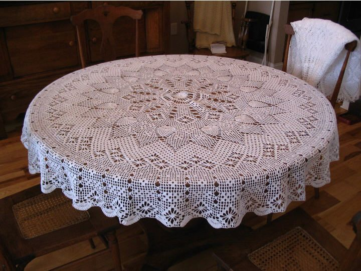 Crochet....Crochet   Crochet tablecloth pattern, Crochet .
