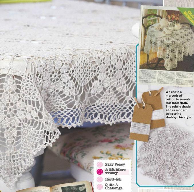 Vintage cotton tablecloth crochet pattern ⋆ Crochet Kingd