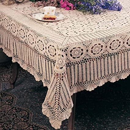 Amazon.com: TCC Handmade Crochet Lace Tablecloth. 100% Cotton .