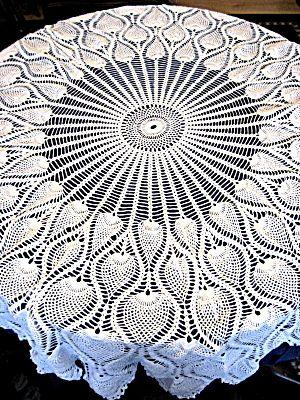 PINEAPPLE TABLECLOTH CROCHET PATTERN   Crochet For Beginners .