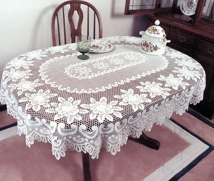 35 Crochet Lace Tablecloth Patterns - The Funky Stit