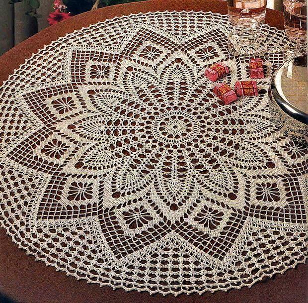 Crochet Tablecloth Pattern - Elegant Decorative Crochet | Crochet .