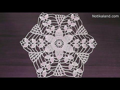 Crochet motif patterns Crochet motif tablecloth Part 1 - YouTu