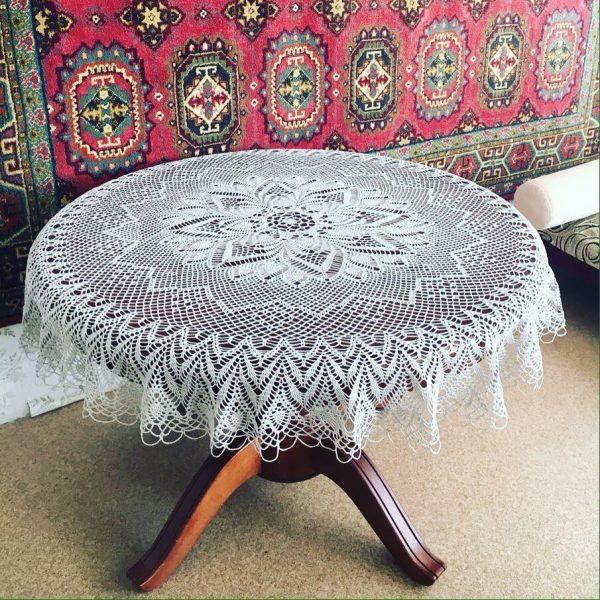 Crochet tablecloth pattern | Free Crochet Patter