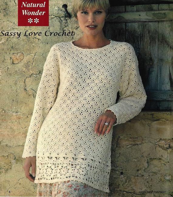 Crochet Sweater Pattern Crochet Tunic Pattern Sweater Tunic | Et