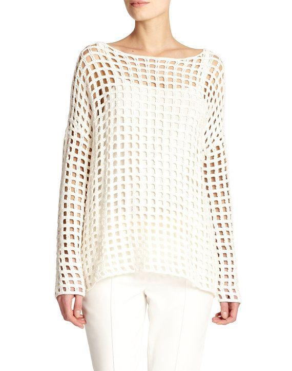 Easy crochet tunic PATTERN, trendy tunic PATTERN, instructions in .
