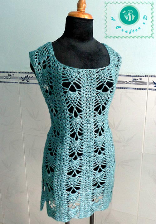 Pineapple Crochet Tunic | AllFreeCrochet.c