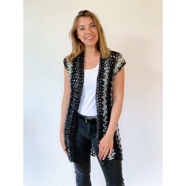 Crochet Kit - Sleeveless Crochet Vest - Lion Brand Ya