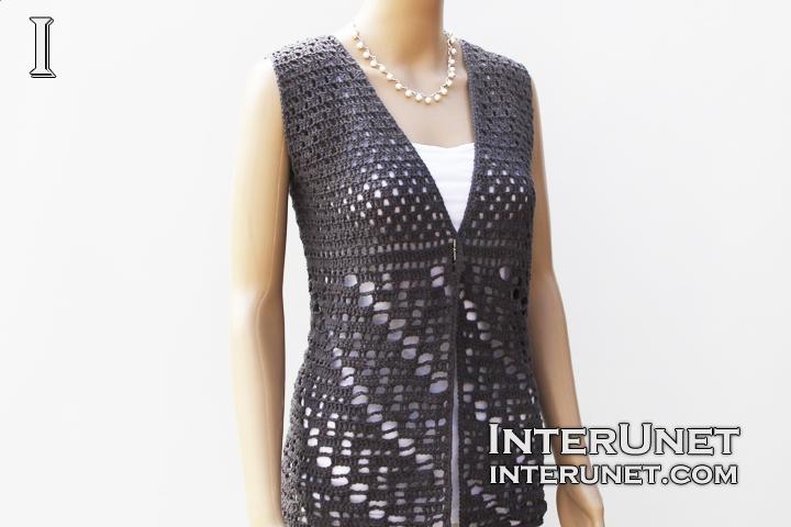 Vest jacket crochet pattern | interun